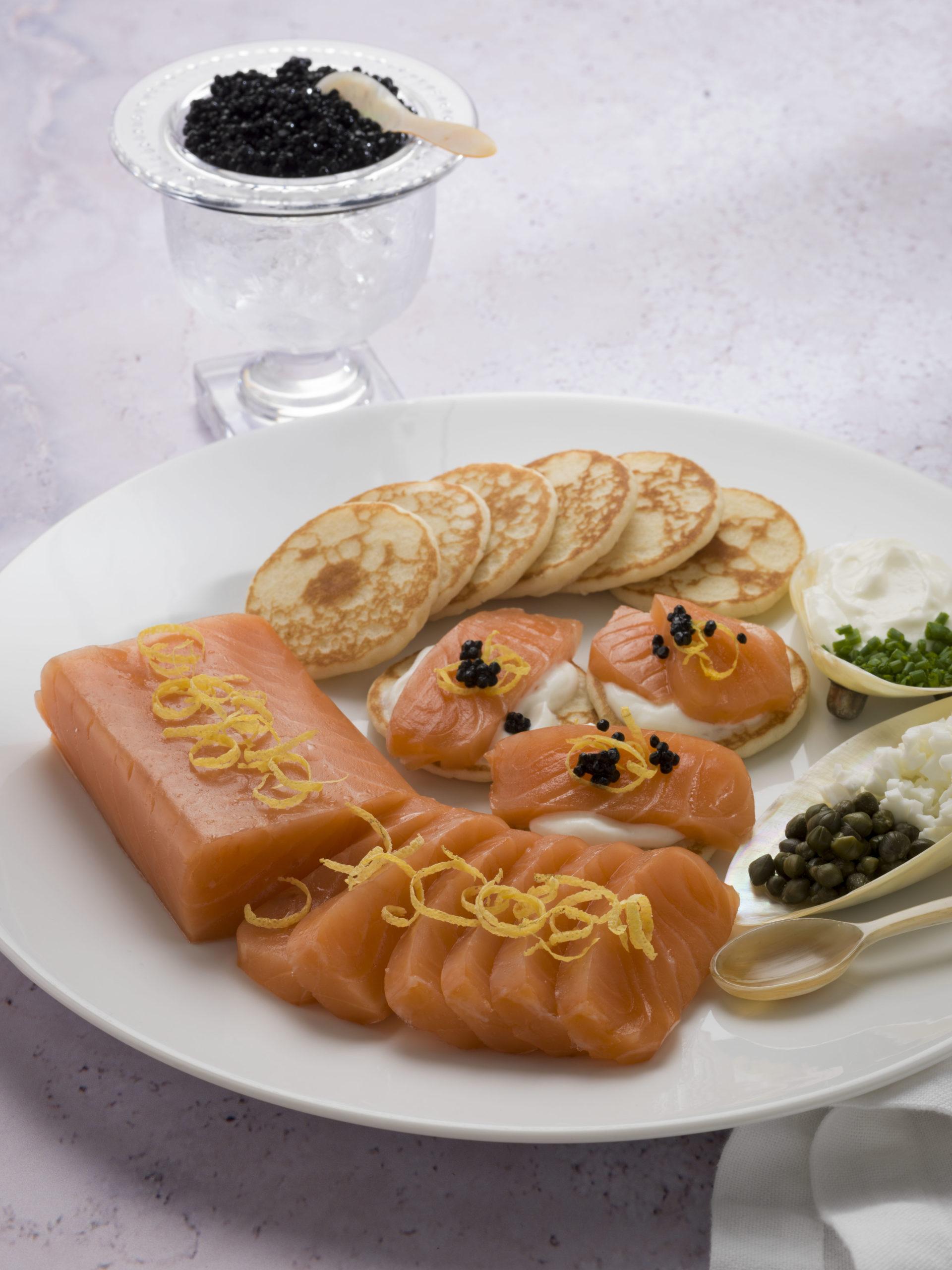photo of balik salmon prepared as a meal
