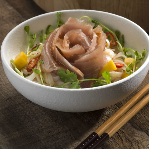photo of the Smoked Yellowfin Rose with Vermicelli Salad Recipe
